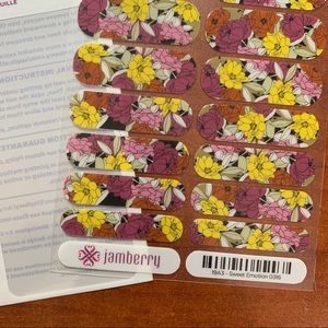 Jamberry Sweet Emotion Full Sheet. Licensed.